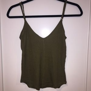 UO comfy tank in forest green